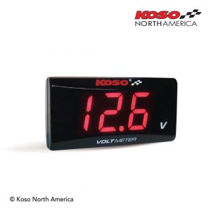 Super slim volt meter red